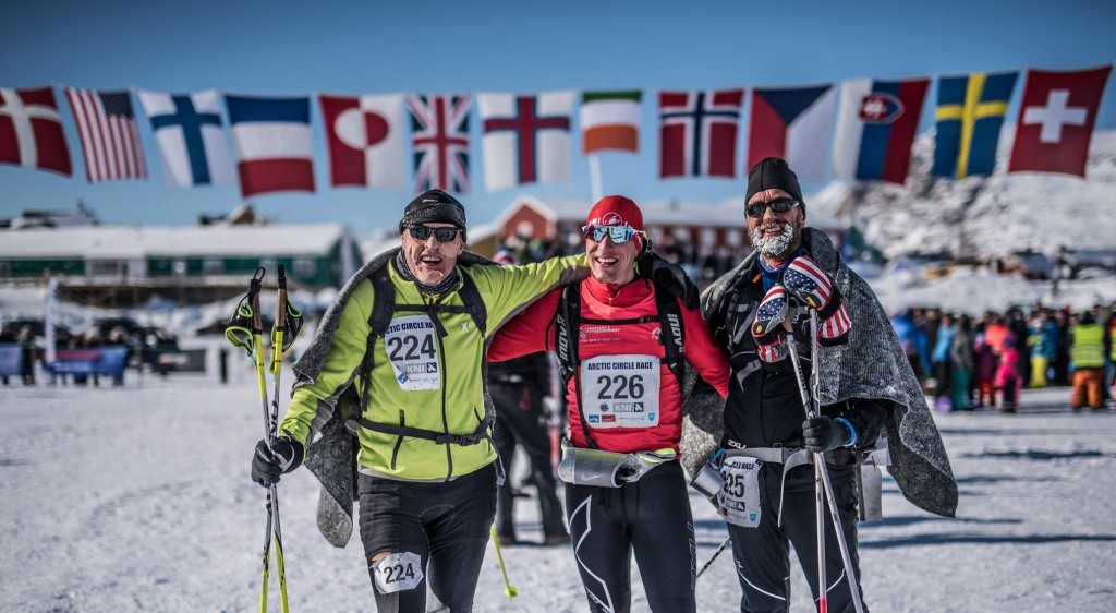 Ollie, Slatts and Stan Arctic Circle Race 2017