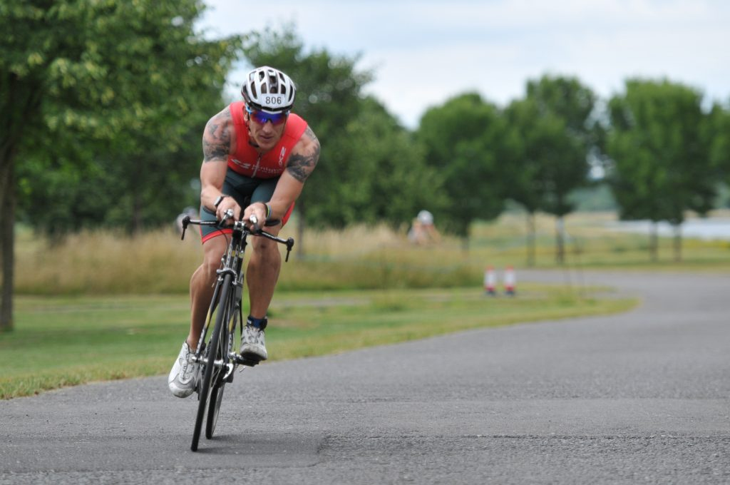 Ollie Rastall TT bike leg JLL Property Triathlon