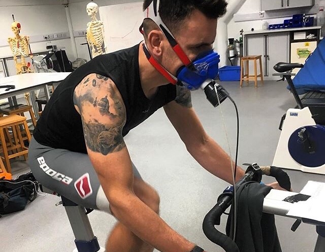 Cycling with oxygen on.